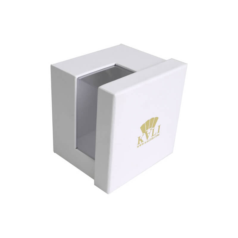 Foil Stamping Lift Off Lid Box With PVC Window
