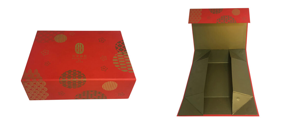 Foil stamped logo collapsible box for essential oil