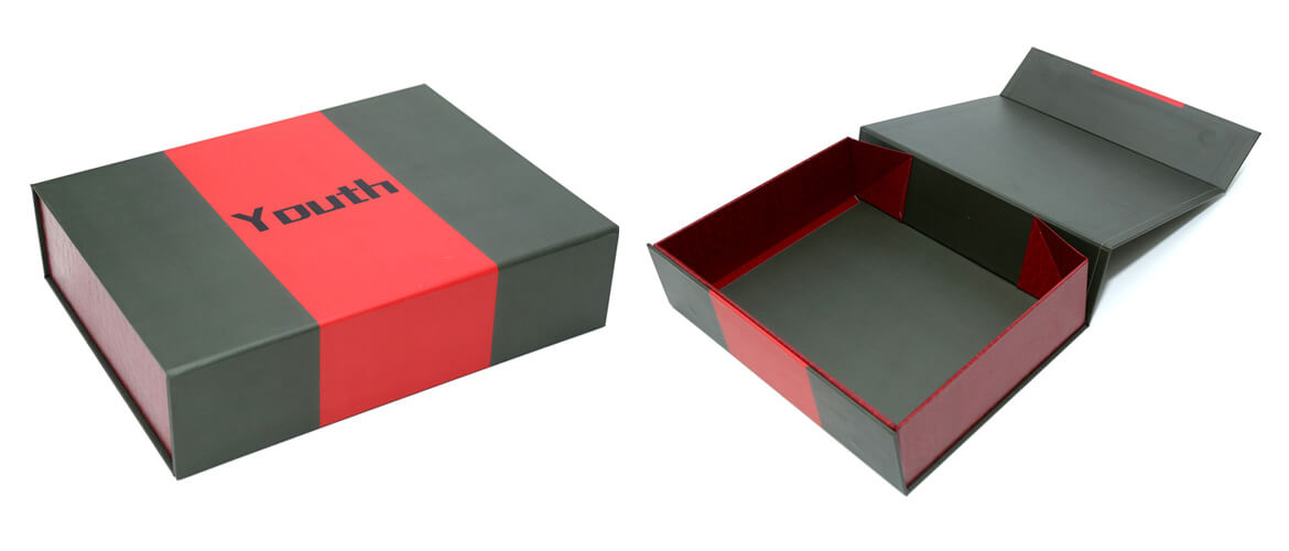 Foldable Flip Lid Magnetic Closure Box For Healthy Organic Products