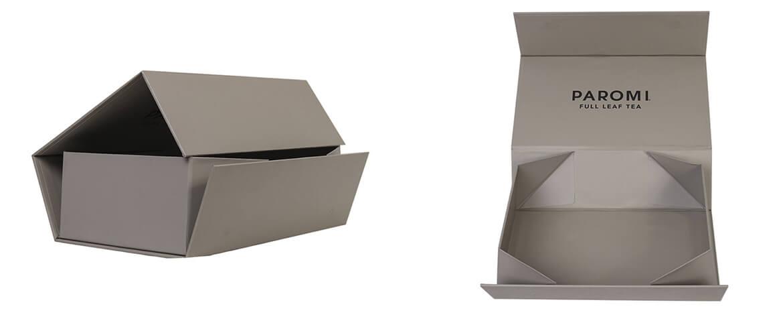 Foldable gift box for organic tea