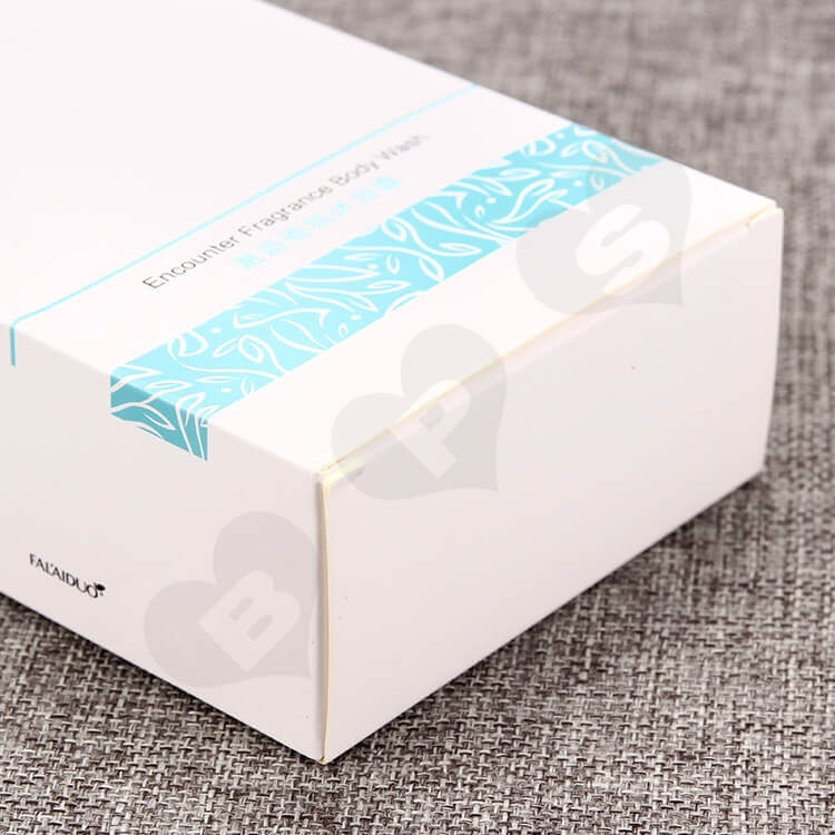 Fragrance Body Wash Packaging Box side view four