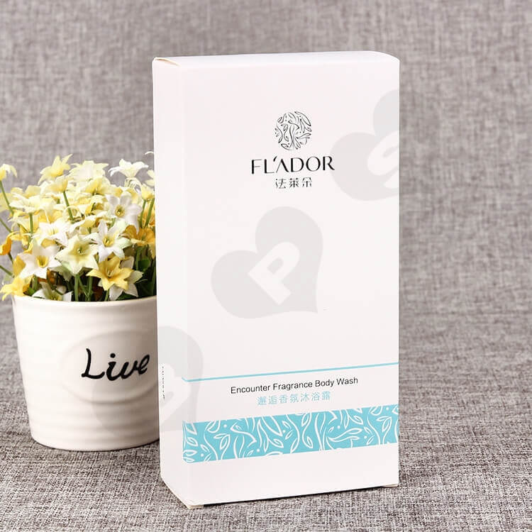 Fragrance Body Wash Packaging Box side view one