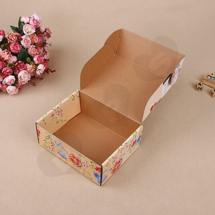 Full Color Printed Corrugated Paper Box For Greeting Cards Set side view five