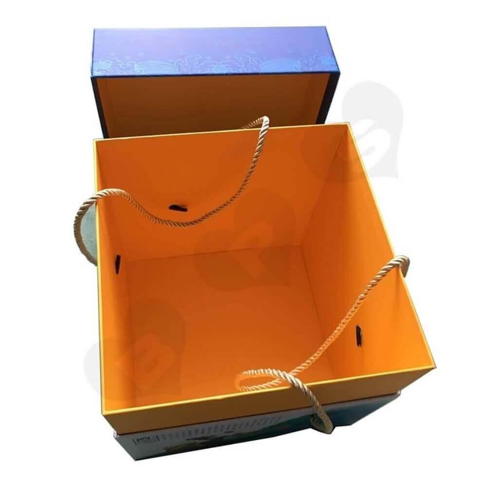 Full Over Spot Uv Varnished Tea Gift Box Side View Four