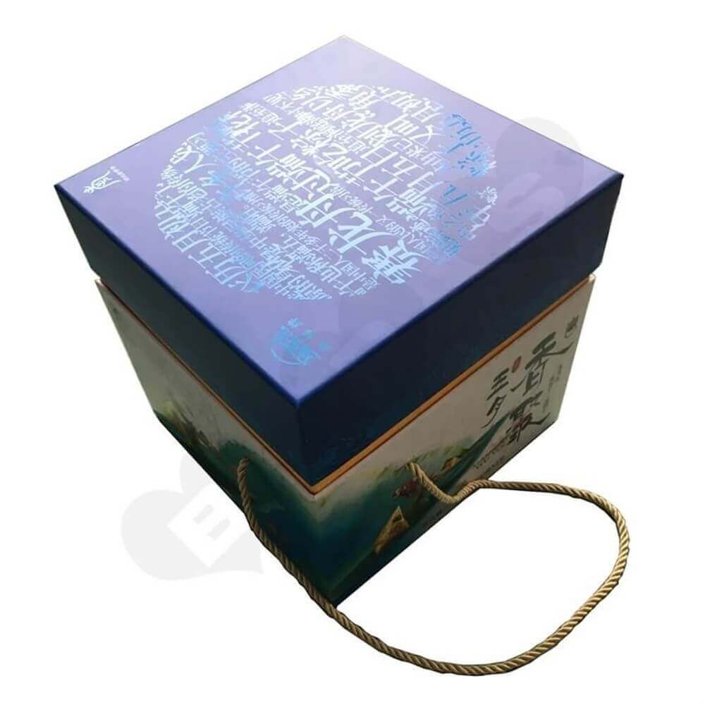 Full Over Spot Uv Varnished Tea Gift Box Side View One