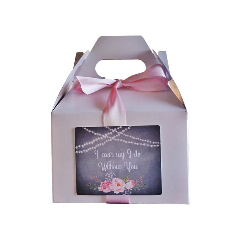 GabGable top gift box with ribbon windowle top gift box with ribbon window