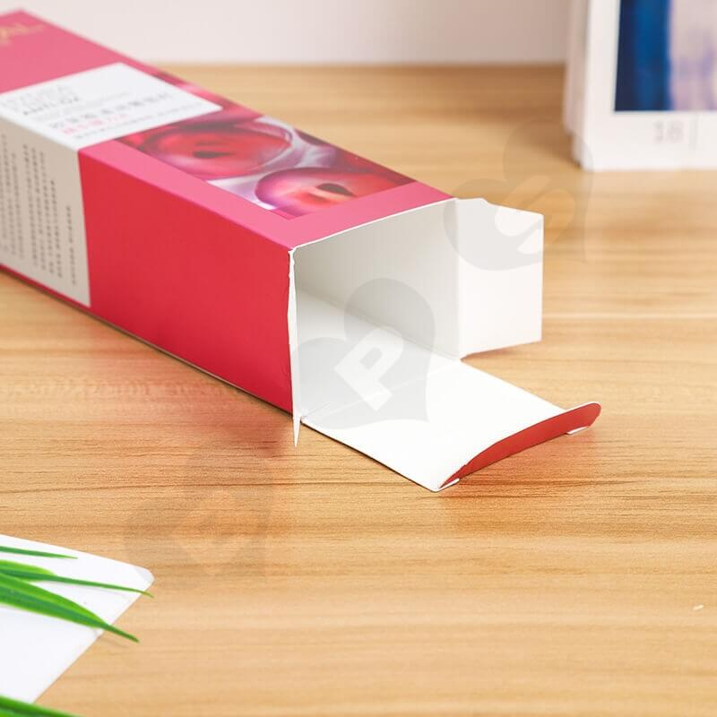 Glossy Cardboard Box For Exquisite Eye Liquid side view two