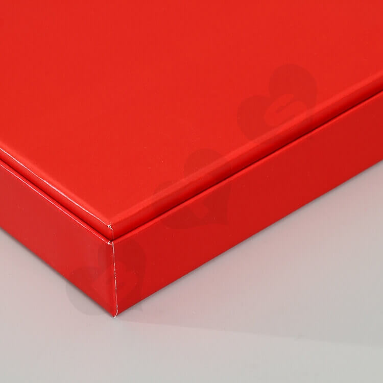 Glossy Red Cardboard Gift Box For Skin Care Product side view four