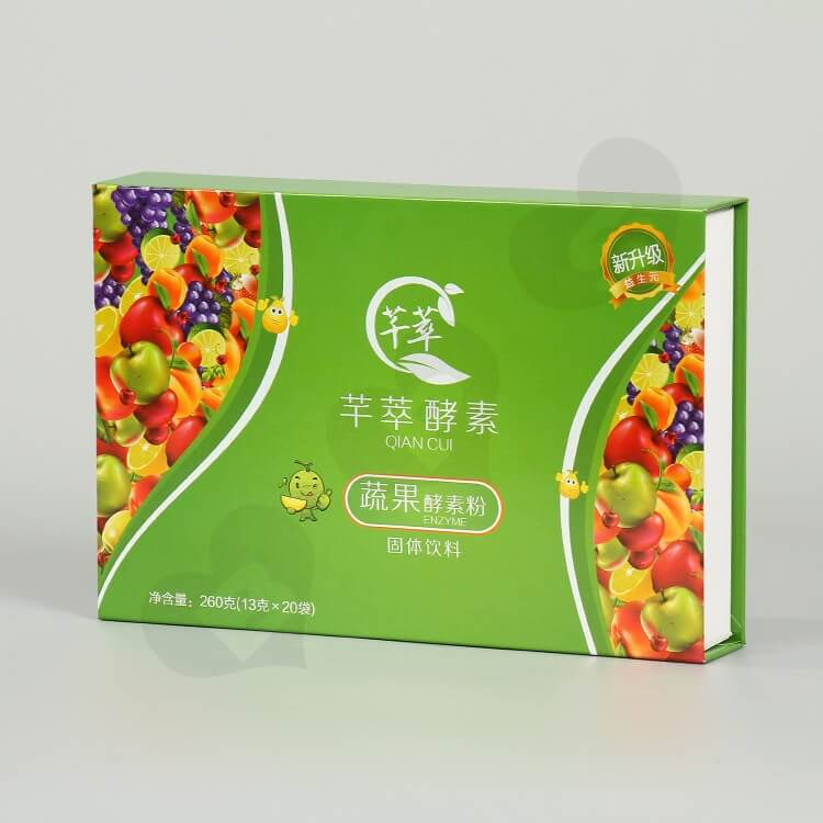 Glossy Rigid Cardboard Box For Enzyme Powder side view one