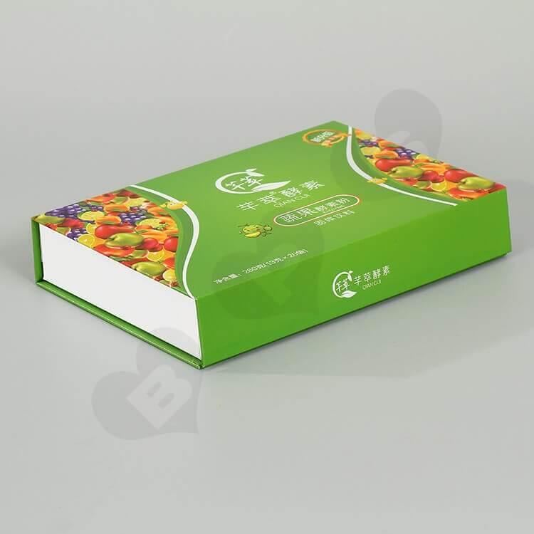 Glossy Rigid Cardboard Box For Enzyme Powder side view two