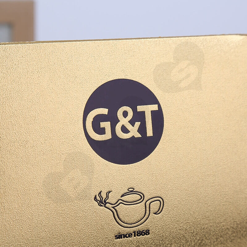 Gold Cardboard Box Packaging For Tea side view five