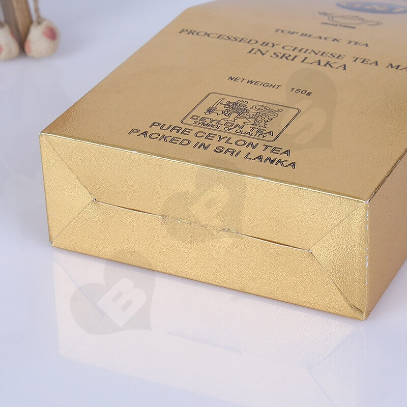 Gold Cardboard Box Packaging For Tea side view four