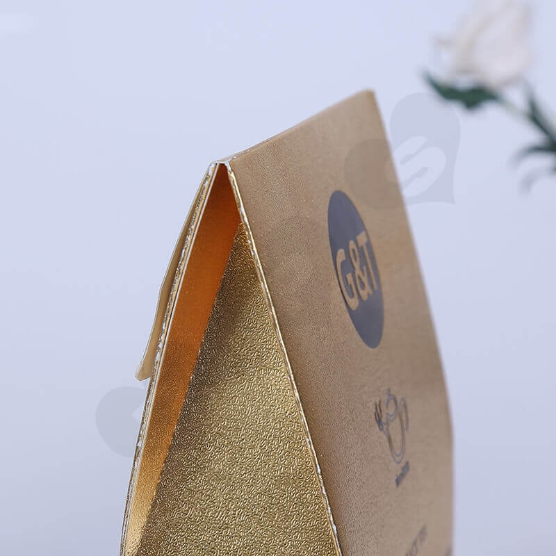 Gold Cardboard Box Packaging For Tea side view three