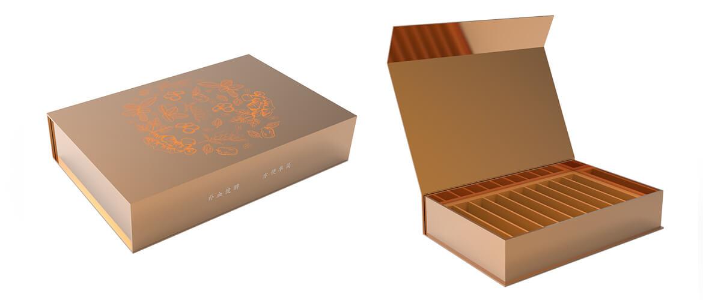 Gold Metallic Coated Magnetic Closure Box