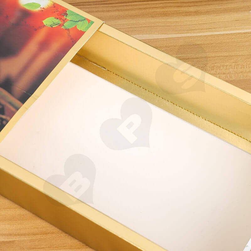 Golden Specialty Cardboard Cosmetic Packaging Box side view five
