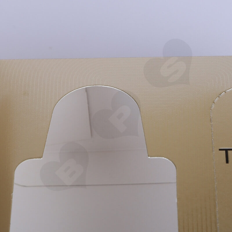 Golden Specialty Cardboard Cosmetic Packaging Box side view seven