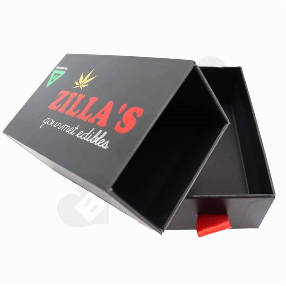 Gourmet Gift Packaging Box with Three Color Foil Stamping sideview three