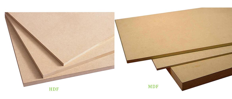 HDF board and MDF board