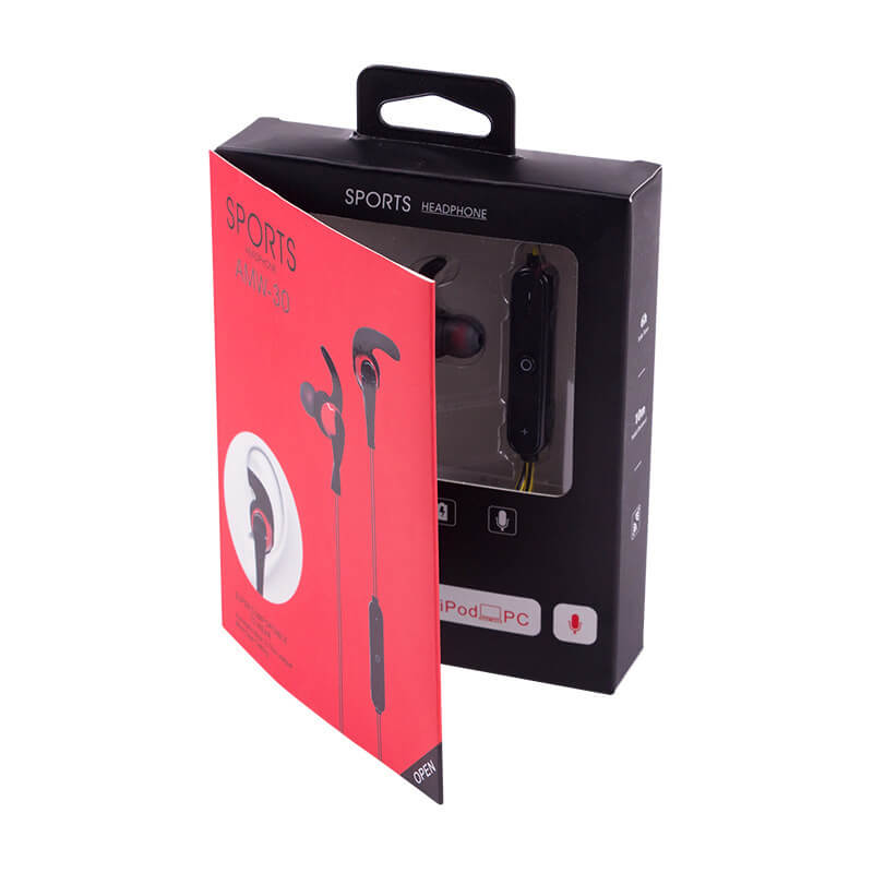 Hang Tab Box with PET Window For Sports Headphone