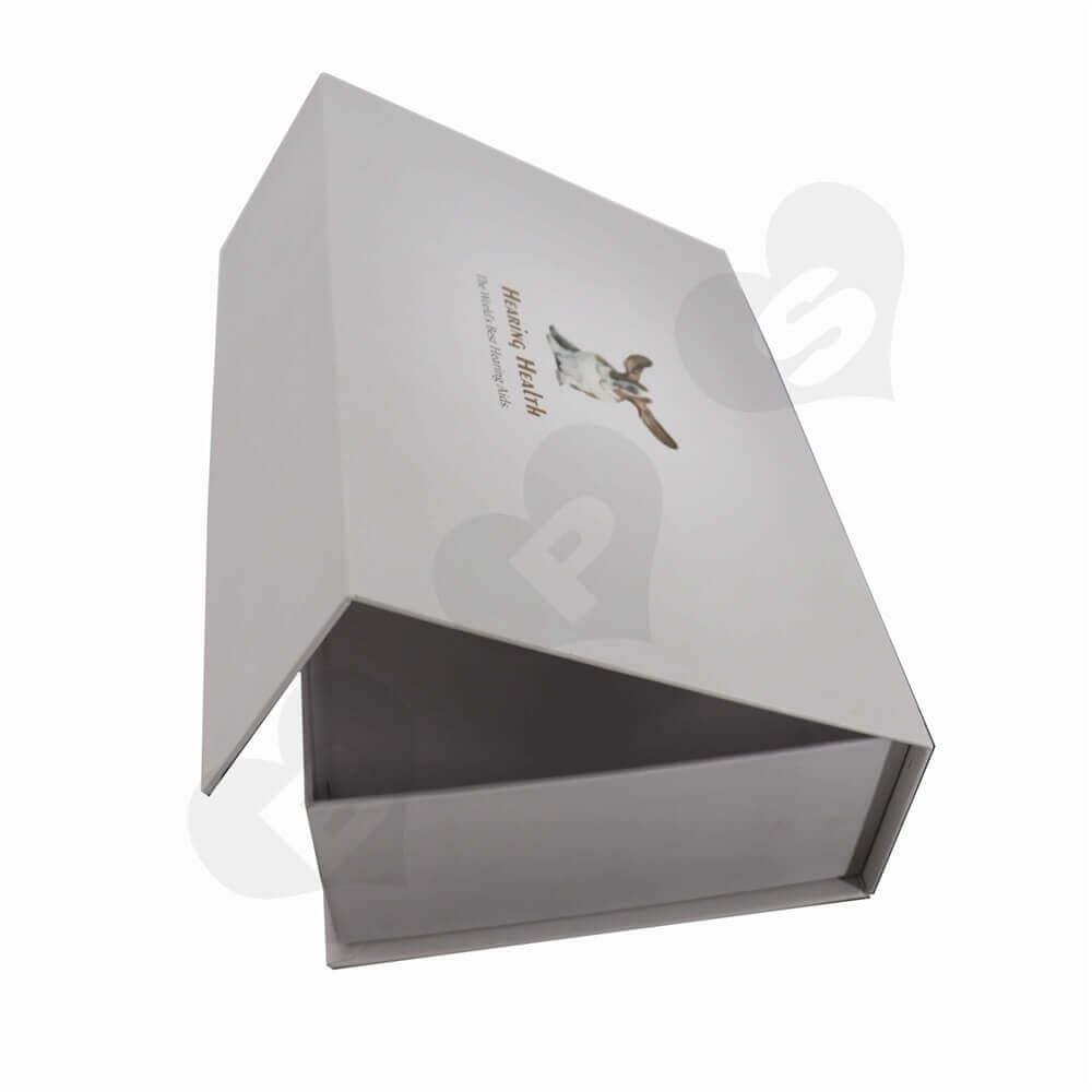 Hearing Aids Rigid Packaging Box side view three