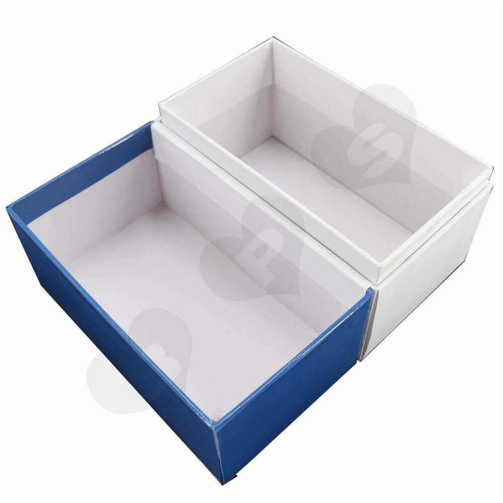 Hinged Flip Lid Box Packaging side view three