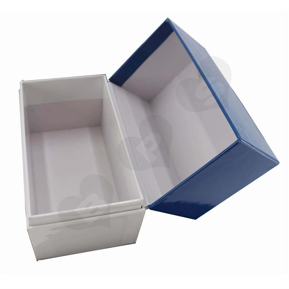 Hinged Flip Lid Box Packaging side view two