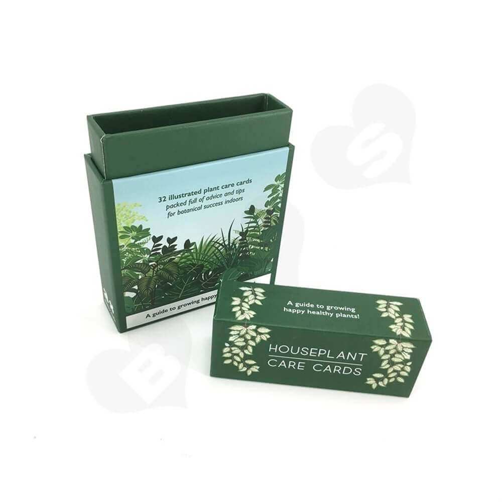 Houseplant Care Cards Packaging Box Side View Six