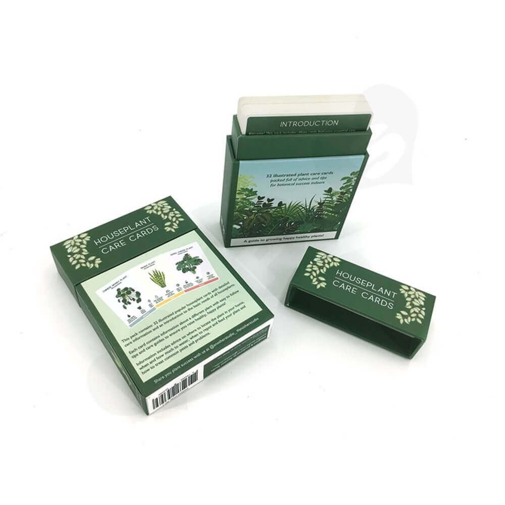 Houseplant Care Cards Packaging Box Side View Three