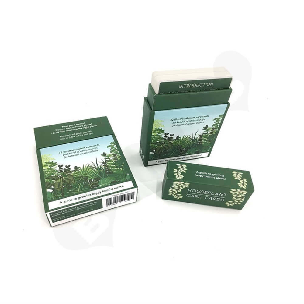Houseplant Care Cards Packaging Box Side View Two