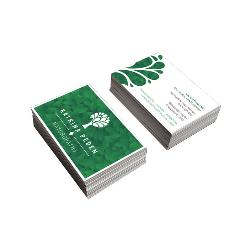 Ivory Paperboard Made Printed Business Cards