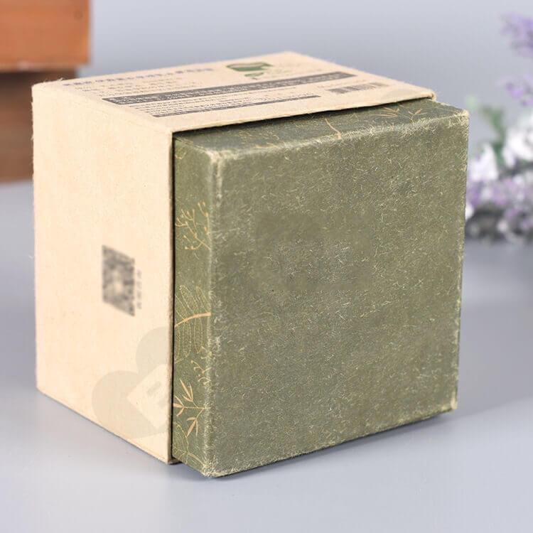 Kraft Cardboard Gift Box For Organic Shea Cream side view two
