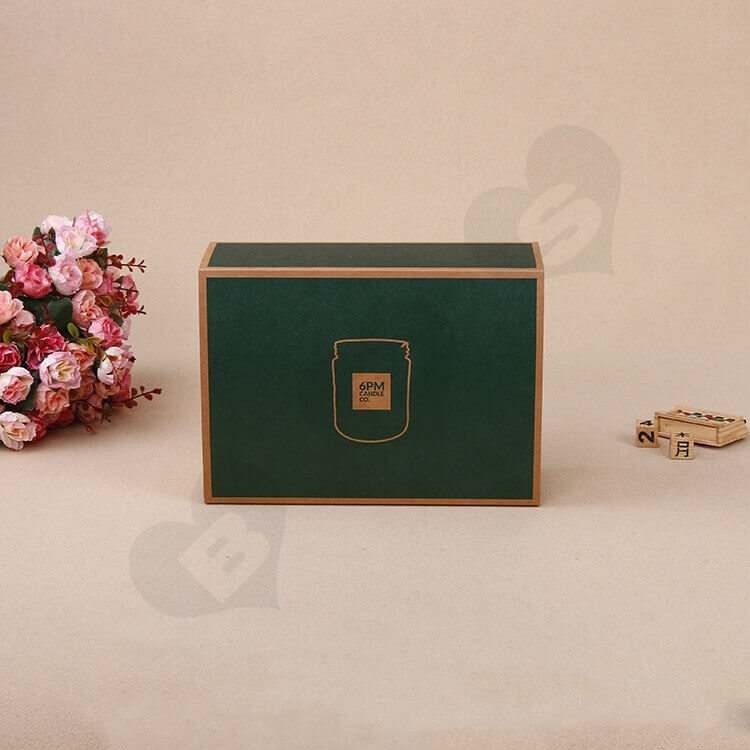 Kraft Mailer Box With Sleeve For Candle side view four