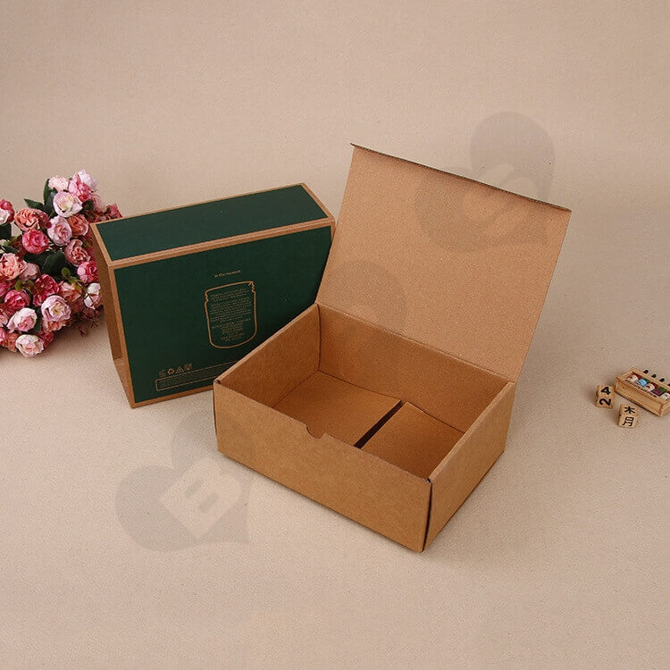 Kraft Mailer Box With Sleeve For Candle side view one