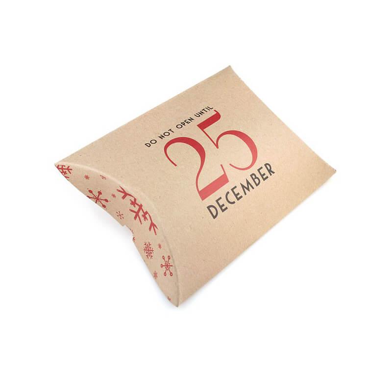 Kraft pillow box for Christmas gift packing