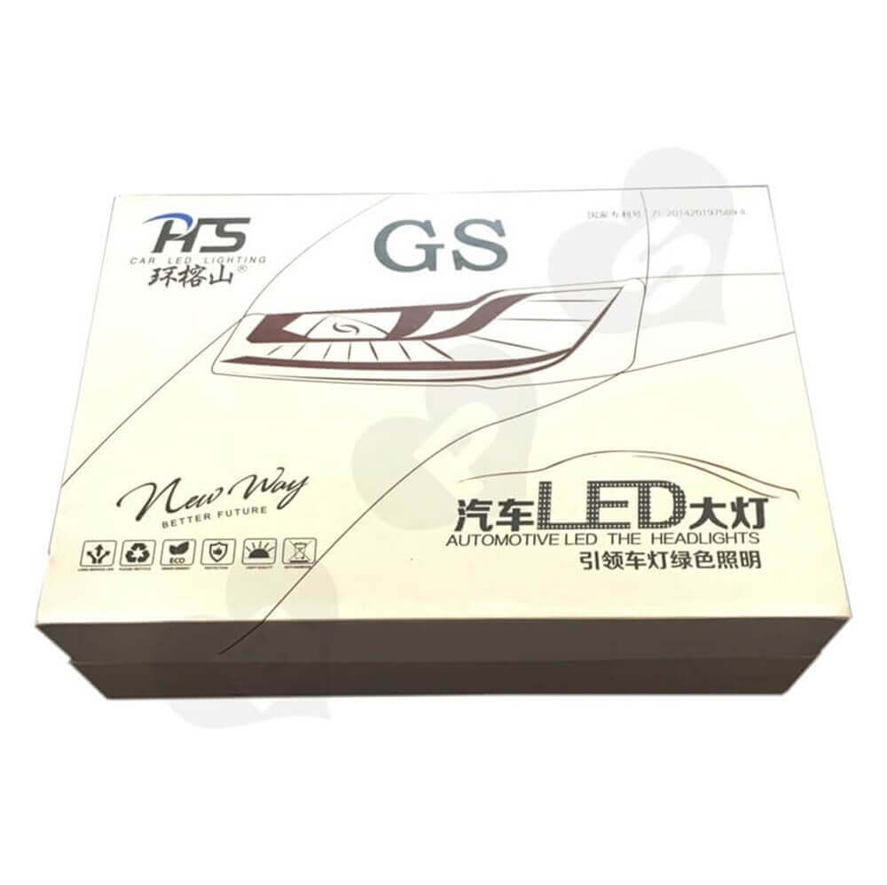 LED Bulb Rigid Gift Boxes Sideview Five