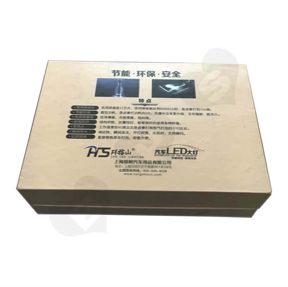 LED Bulb Rigid Gift Boxes Sideview Four