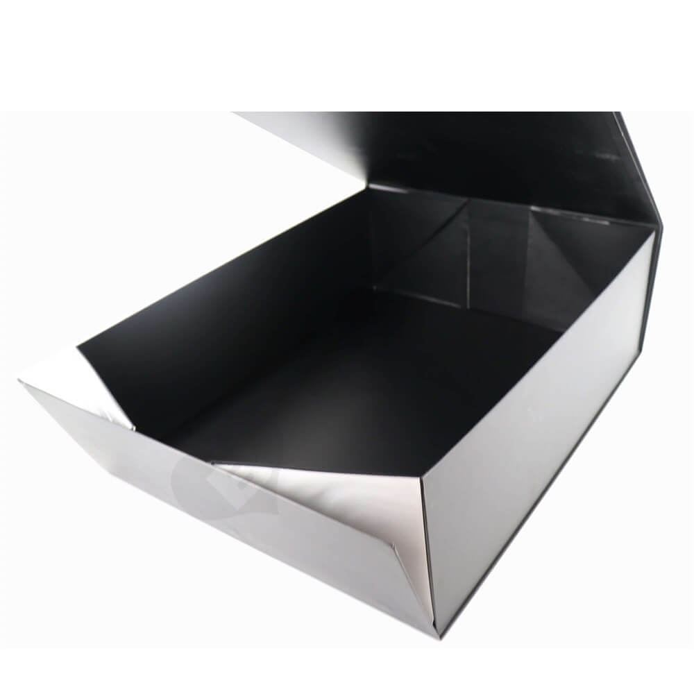 Large Apparel Rigid Gift Packaging Box side view two