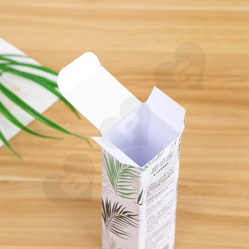 Luxury Cardboard Folding Box For Firming Lotion side view two