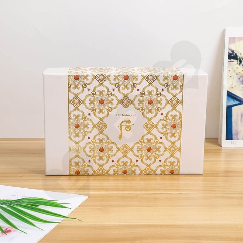 Luxury Cardboard Gift For Cosmetic Kit side view two