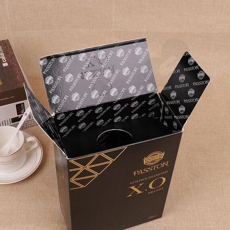 Luxury Custom Cardboard Wine Box side view three