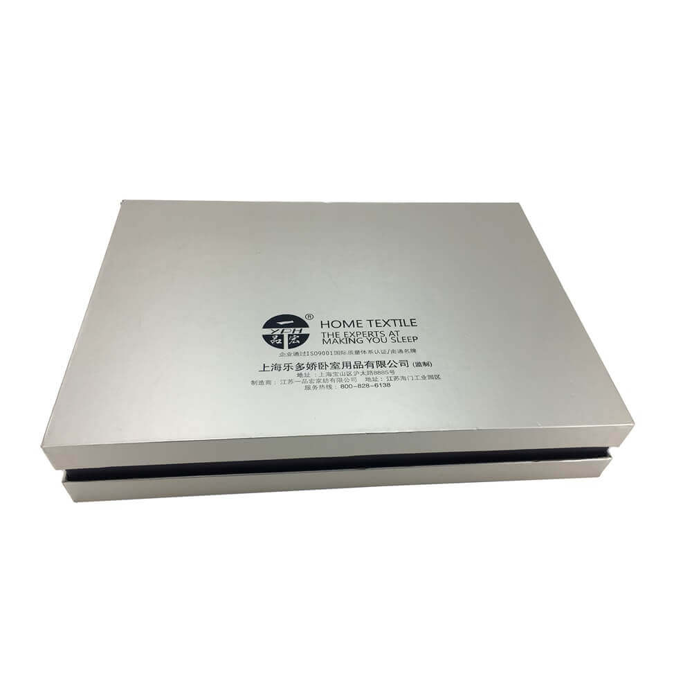 Luxury Home Textile Packaging Box Side View One