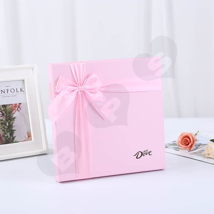 Luxury Pink Rigid Box For Chocolate side view five