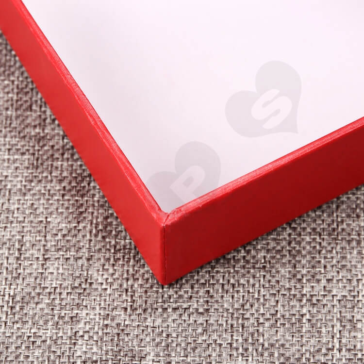 Luxury Rigid Gift Box For Souvenir Silver Foil Stamping side view three