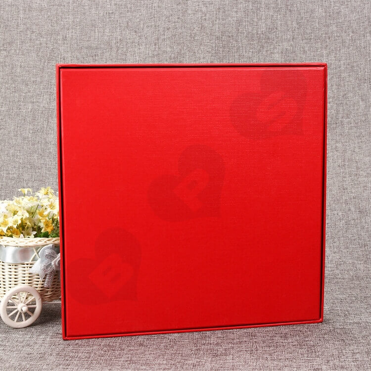 Luxury Rigid Gift Box For Souvenir Silver Foil Stamping side view two
