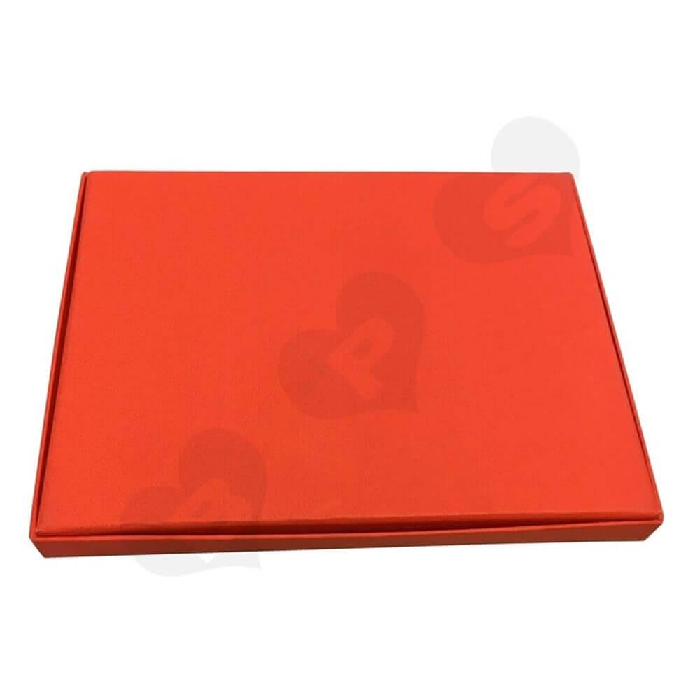 Luxury Scarf Cardboard Gift Box Side View Six