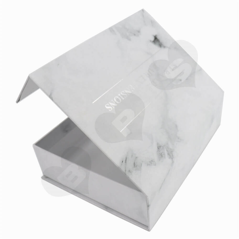 Luxury Wig Packaging Boxes with Silver Stamping side view three