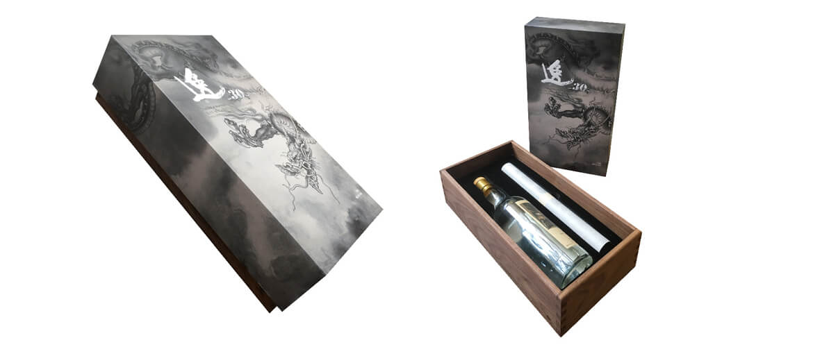 Luxury wine packing box top and bottom style