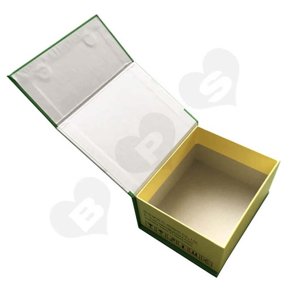 Magnetic Closure Cosmetic Packaging Box Sideview Four