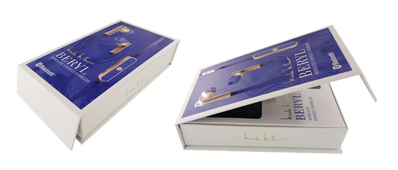 Magnetic Closure Rigid Box For Earphone