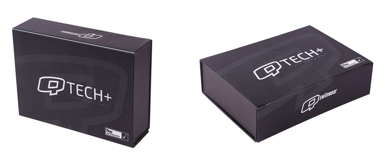 Matt Black Laminated Magnetic Closure Box For Swimwear